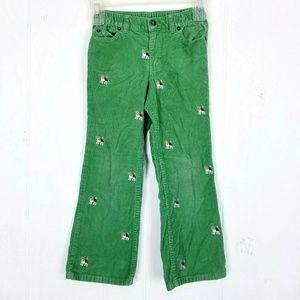 Lands End Girls Corduroy Pants Size 6 Dog Print